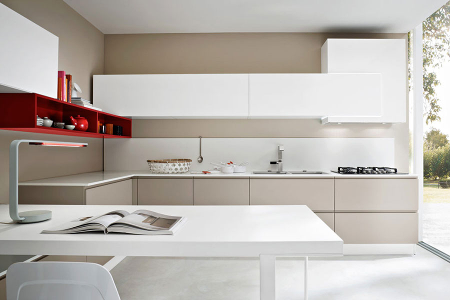 Beige and white kitchen model # 03