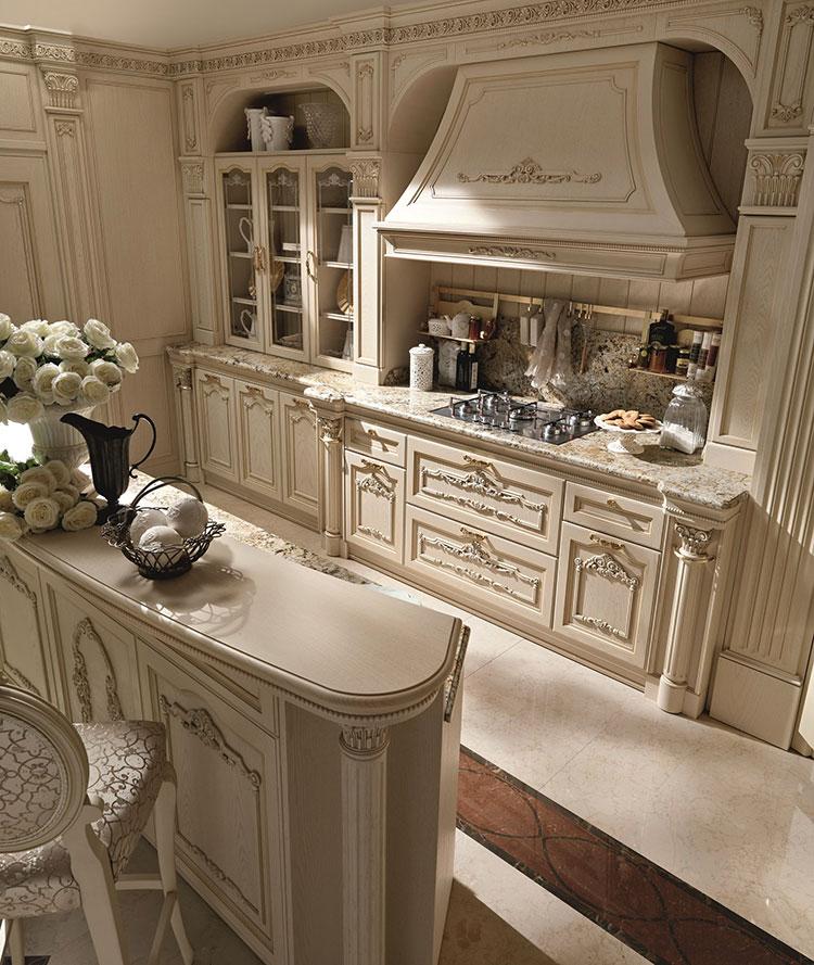 Classic beige kitchen model # 03