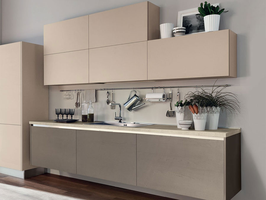 Beige and taupe kitchen model n.02