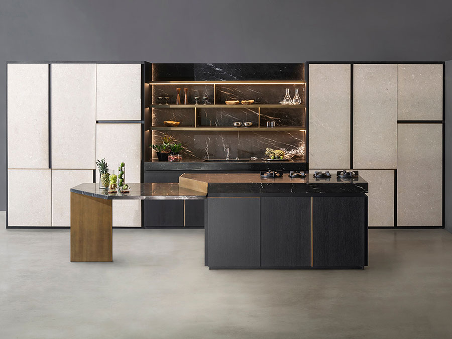 Beige and Gray Kitchen Model # 02