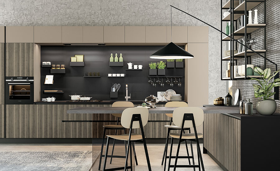 Beige and Gray Kitchen Model # 03