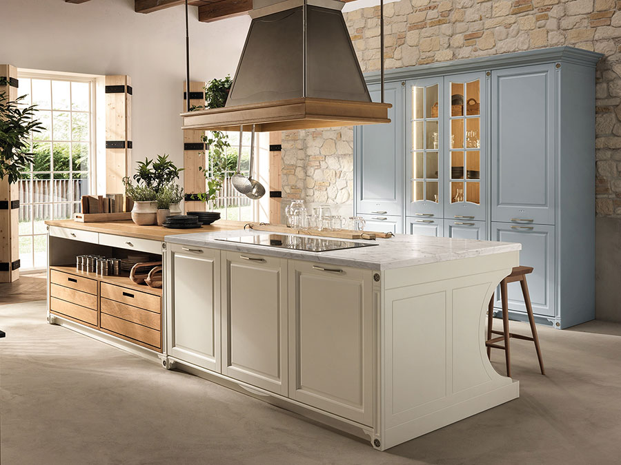 Beige and wood kitchen model # 03