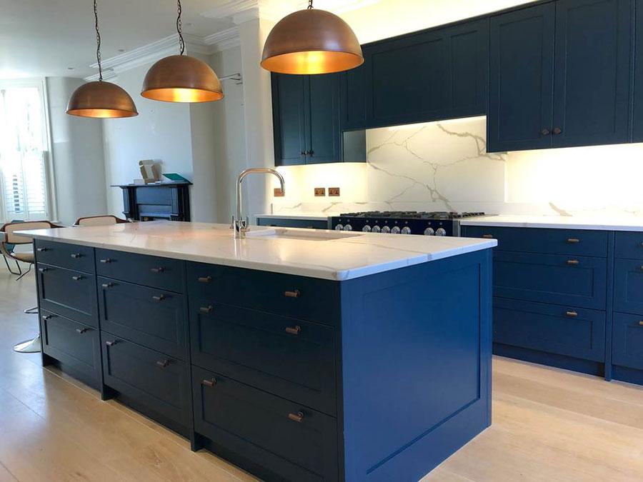 Cobalt blue kitchen ideas n.03