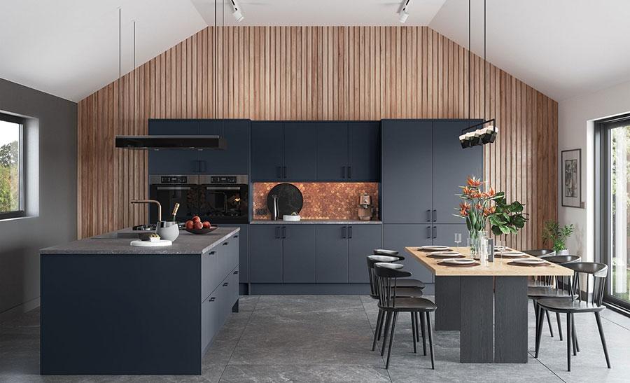 Dark blue kitchen ideas n.01