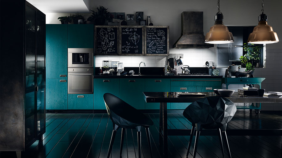 Petrol blue kitchen ideas n.02
