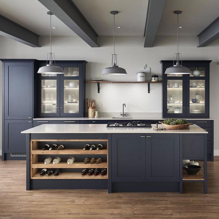 Dark blue kitchen ideas n.03