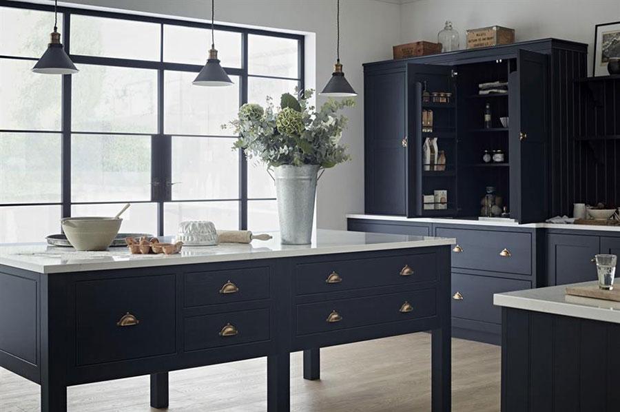 Dark blue kitchen ideas n.04