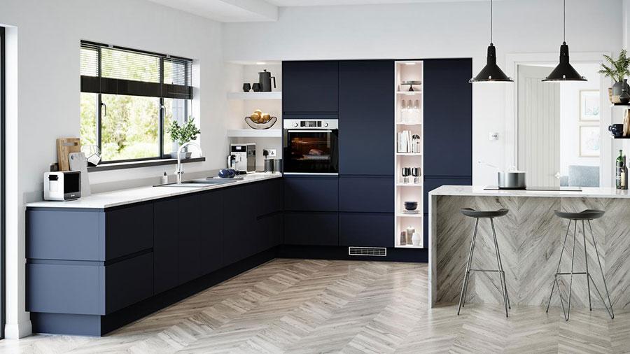 Blue and white kitchen ideas n.01