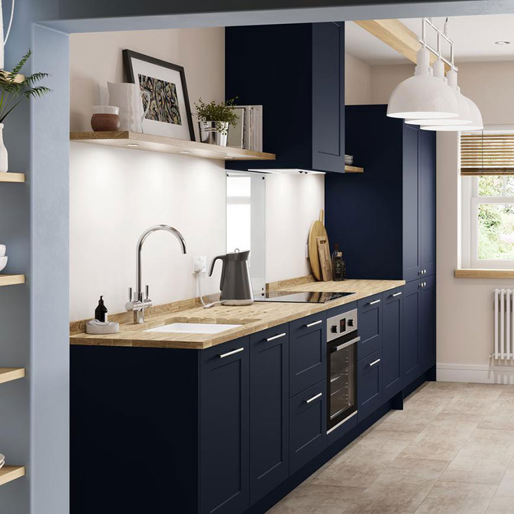 Blue and wood kitchen ideas n.05