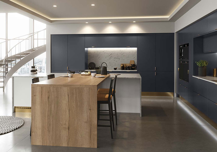 Blue and wood kitchen ideas n.03