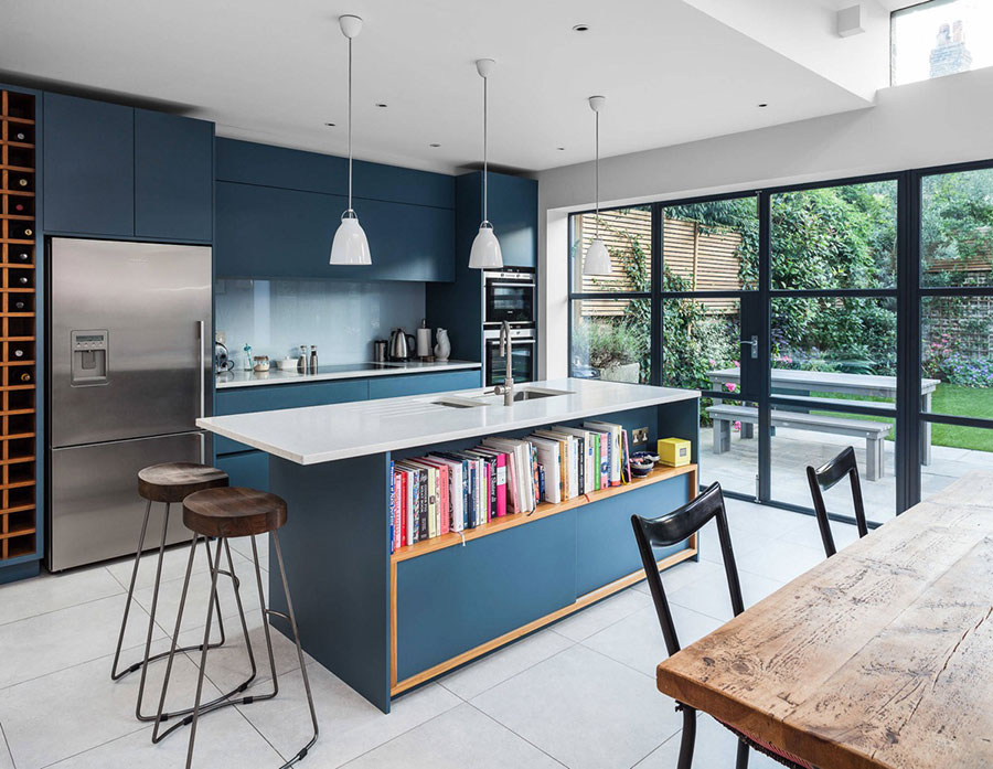 Ideas for decorating a blue kitchen n.05