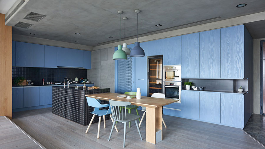 Ideas for decorating a blue kitchen n.02