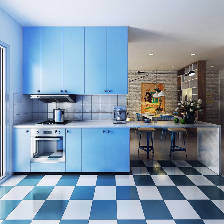 Ideas for decorating a blue kitchen n.06