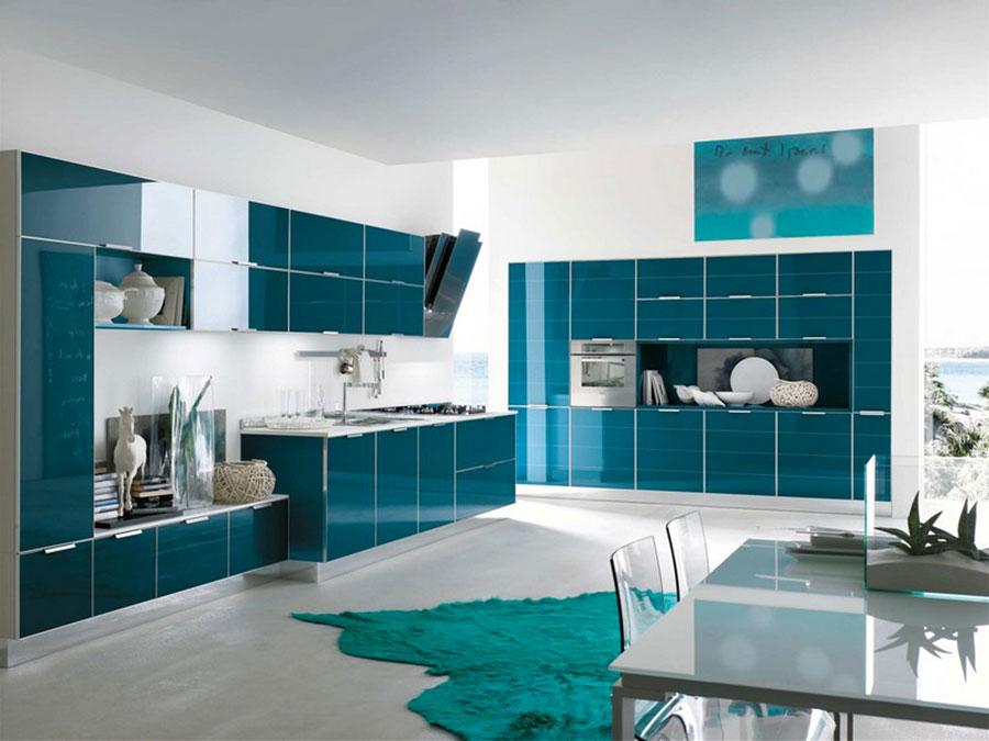 Petrol blue kitchen ideas n.01