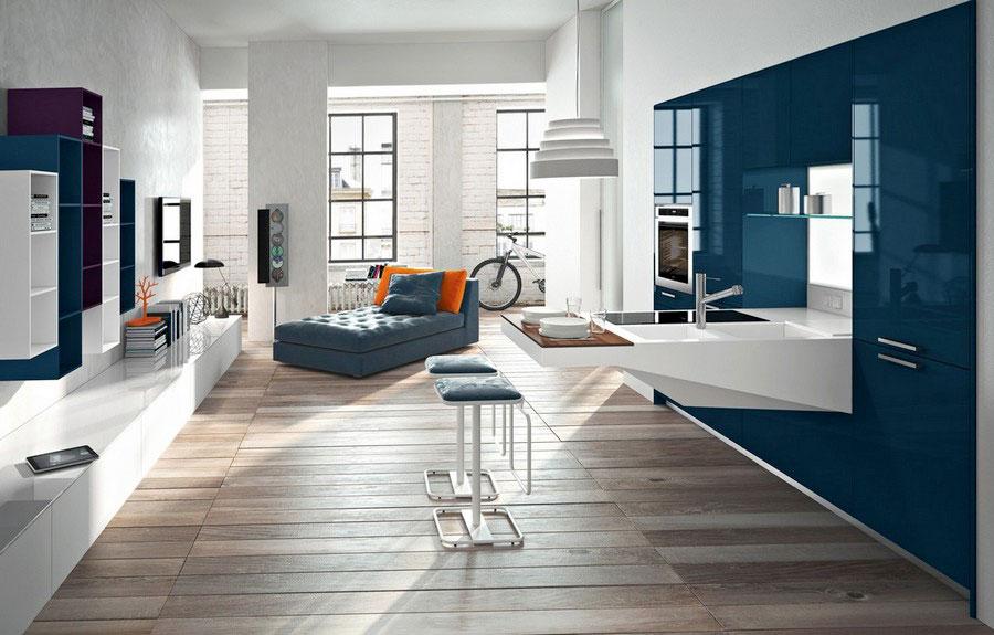 Blue and white kitchen ideas n.04