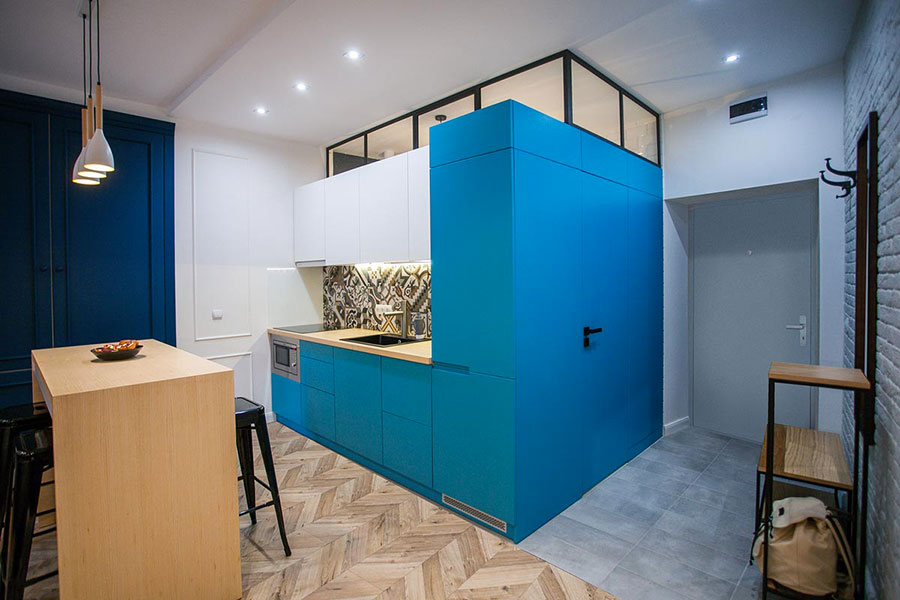 Ideas for decorating a blue kitchen n.07