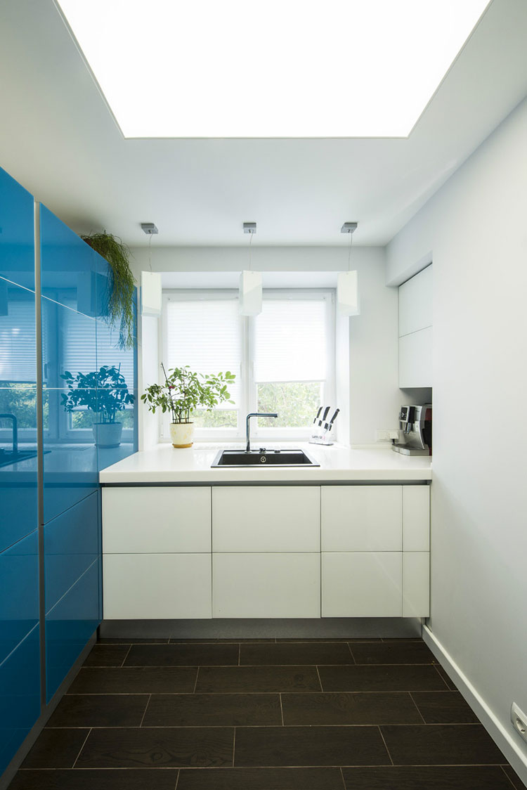 Ideas for decorating a blue kitchen # 18