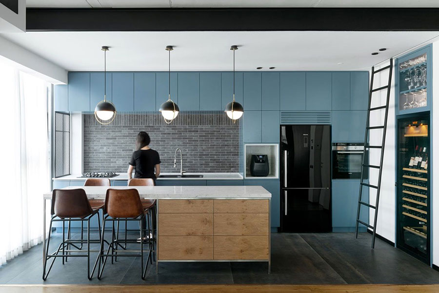 Ideas for decorating a blue kitchen n.09