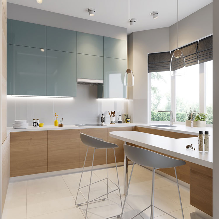 Ideas for decorating a blue kitchen n.12