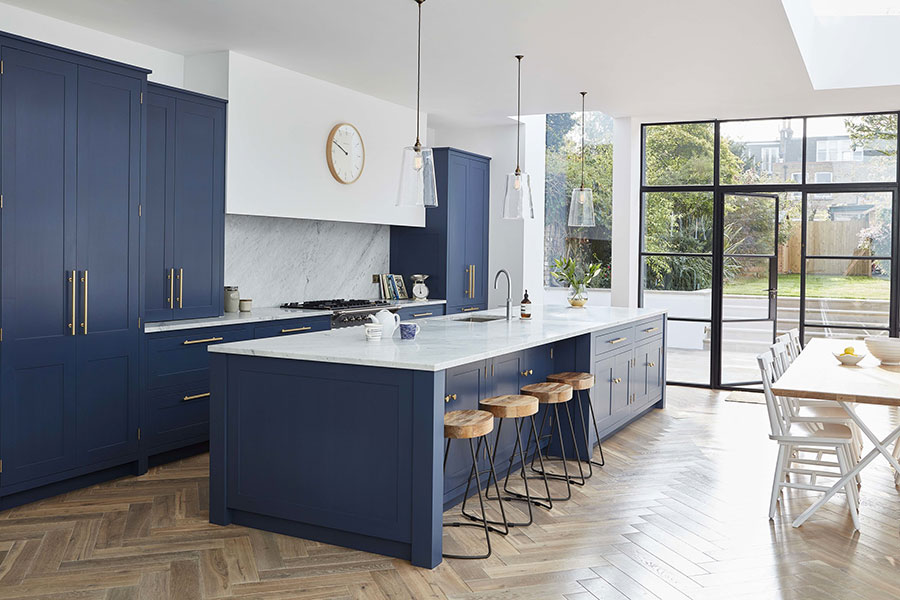 Ideas for decorating a blue kitchen # 25