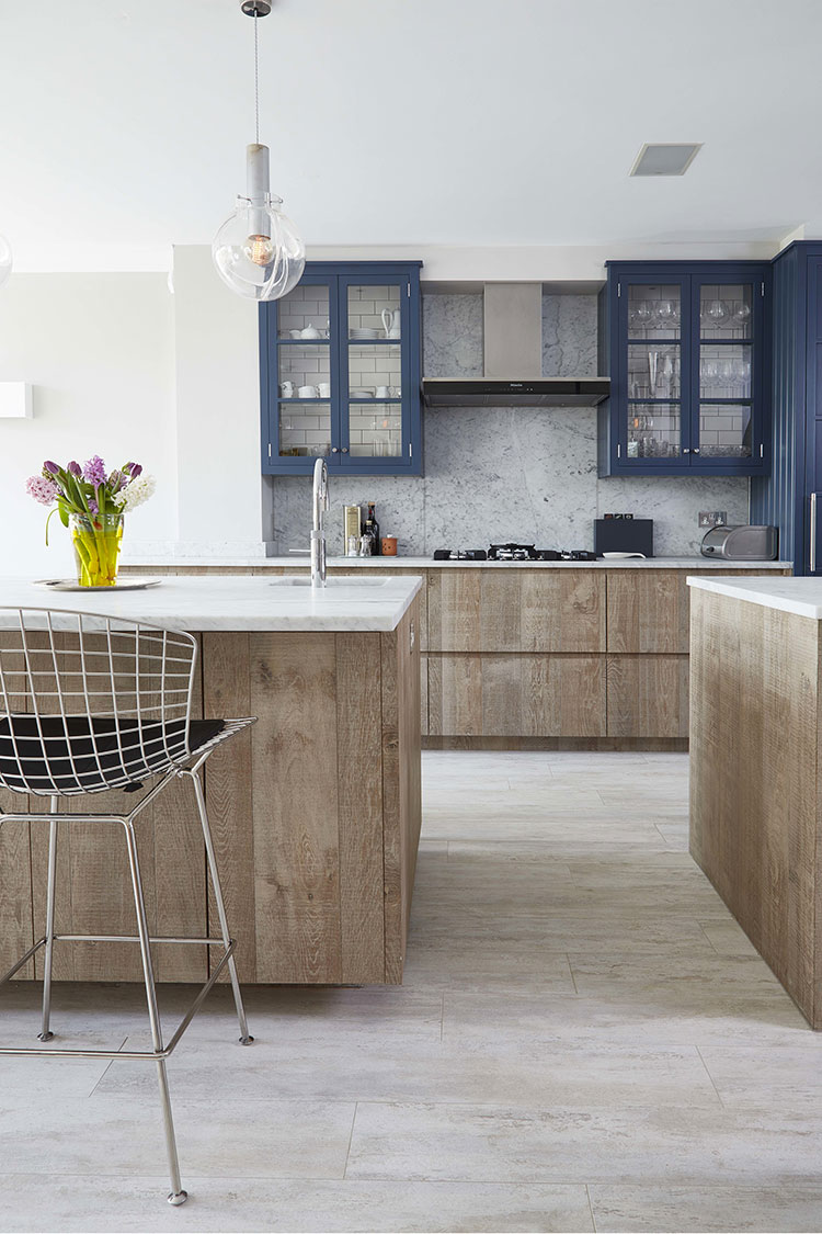 Ideas for decorating a blue kitchen n.24