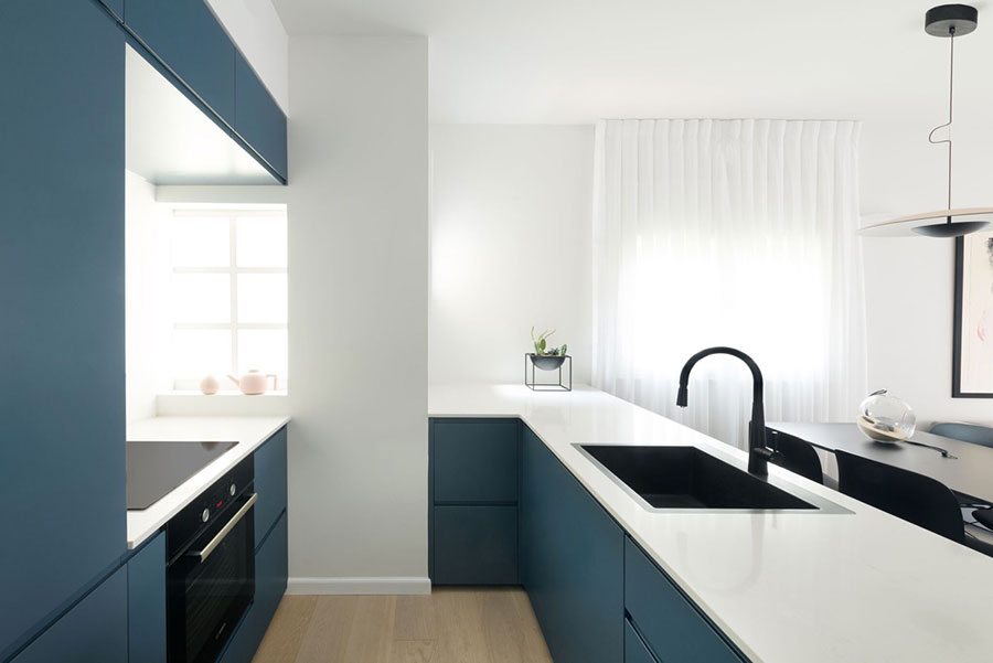 Ideas for decorating a blue kitchen n.20