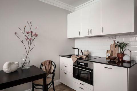 nordic style open white kitchen