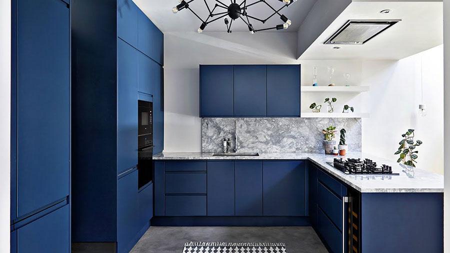 Cobalt blue kitchen ideas n.01