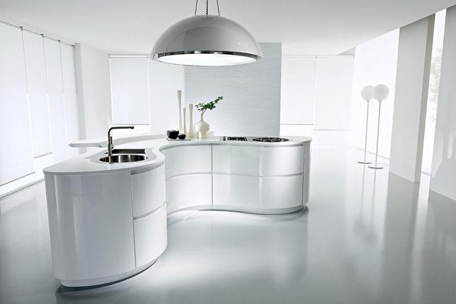 Modern White Kitchen Model # 01