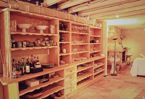 blue house of lucía bosé in brieva segovia carved wooden cupboard
