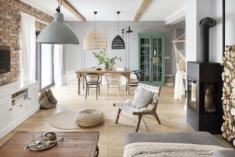 a Nordic style country house living room