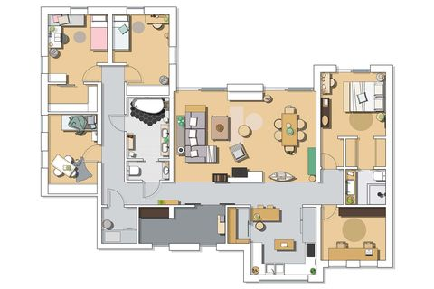 a nordic style country house house plan