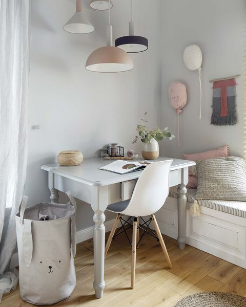 a Nordic style country house children's bedroom