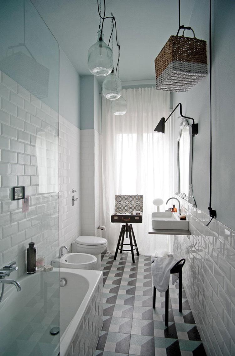 Ideas for decorating a vintage bathroom n.02