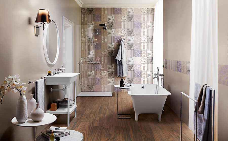Ideas for decorating a vintage bathroom n.08