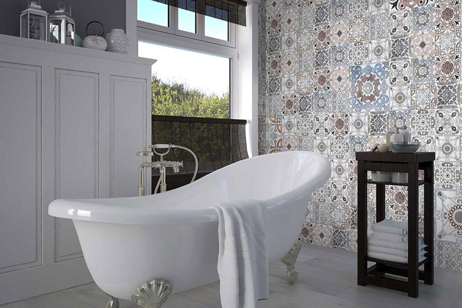 Ideas for decorating a vintage bathroom n.17