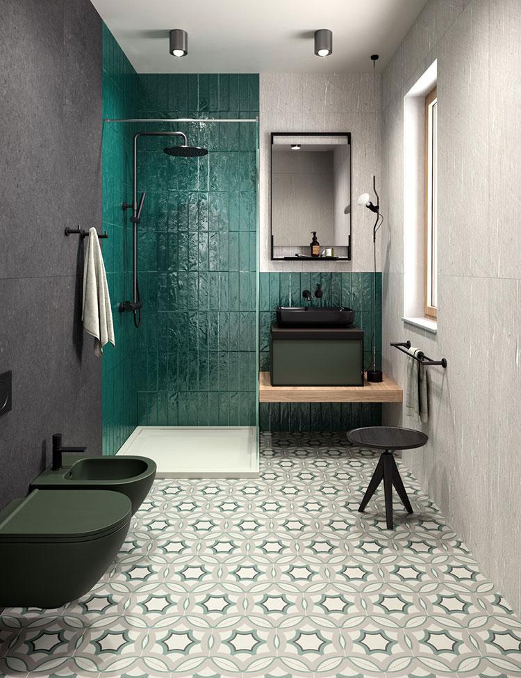 Modern vintage bathroom ideas n.04